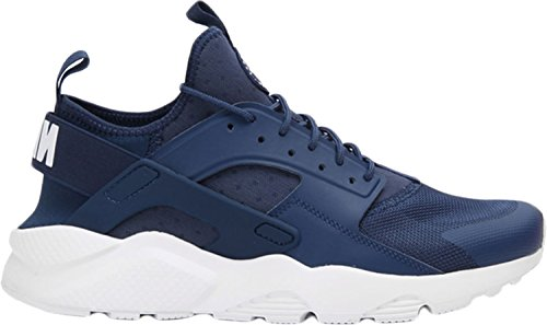 NIKE Herren Huarache Run Ultra Running Sneaker Marine / Weiß