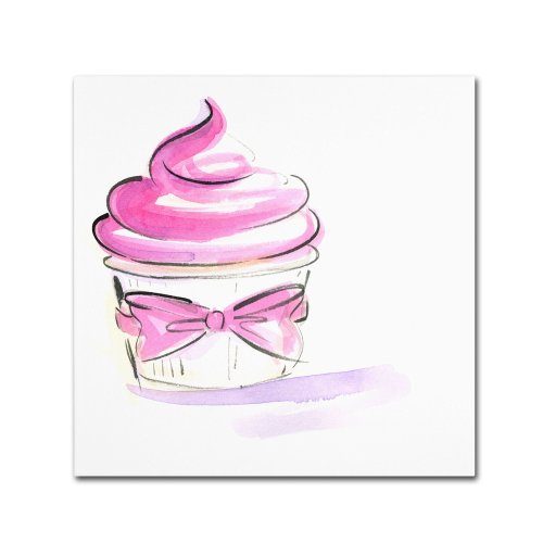 Cupcake 4 by Jennifer Lilya, 18x18-Inch Canvas Wall Art