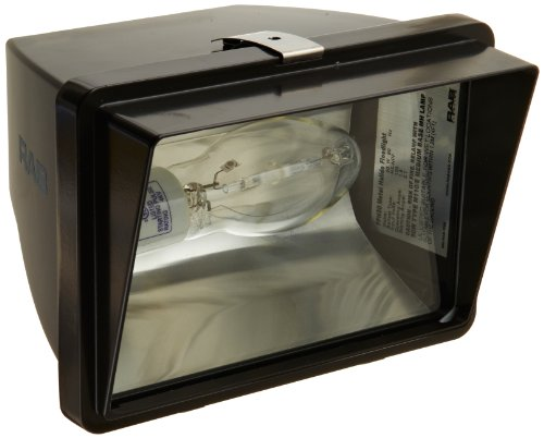 RAB Lighting FFH50 Metal Halide HID Future Floodlight, ED17 Type, Aluminum, 50W Power, 3400 Lumens, 120V, Bronze Color