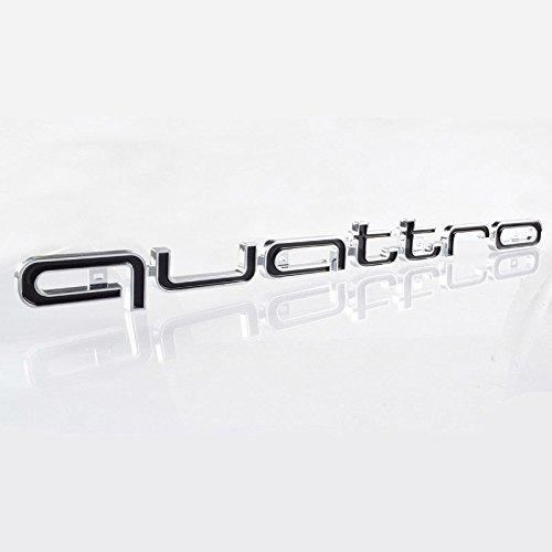 16,5 x 1,7 inch BIOENGIE Front Grill 3D Quattro Embleme Auto Abzeichen Fahrzeug Dekoration Schwarz 1 St/ück