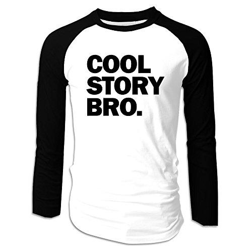 Cool Story Bro Long Sleeve Cotton Adult Raglan (Lame Long Sleeve)