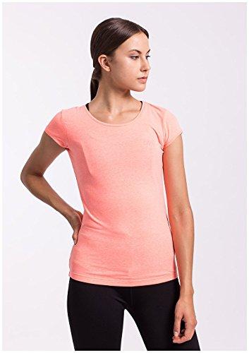 Sport Col Fonction Manches nbsp;f Pour 4 Avec Orange Fitness T Tsd001 shirt Rond Femme Longues nbsp; Gym Courtes 1zSwSPxq8