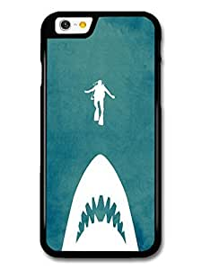 Jaws Minimalist Movie Poster with Shark and Scuba Diver case for iPhone 6
