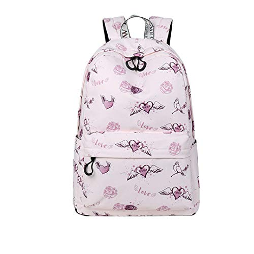 Boys Girls Universal Various Patterns Print School Daily Notebook Backpack Travel Bag