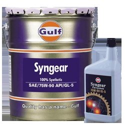 ガルフ【Gulf】 エンジンオイル SYNGEAR 75W-90 1L X 6本セット 100%合成 B00FPGLHWO