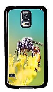 water proof Samsung Galaxy S5 cases Honey Bee Closeup Animal PC Black Custom Samsung Galaxy S5 Case Cover
