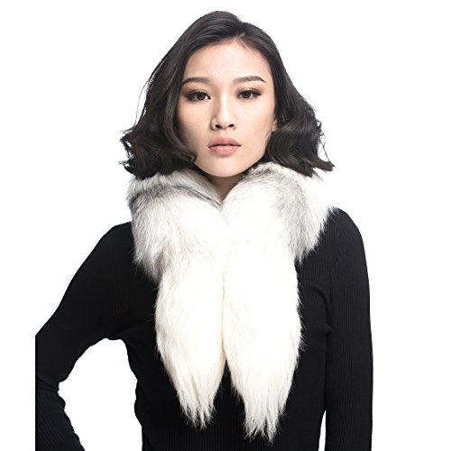 Boa Scarf Pattern (URSFUR Cross Fox Fur Collar Boa Women Neck Scarf Wrap)