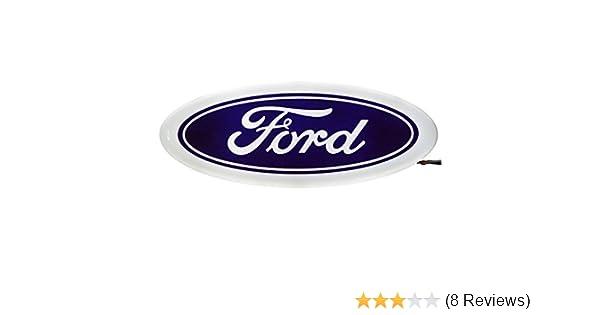 blue Bearfire 4D LED Car Tail Logo Light Badge Lamp Emblem Sticker for Ford