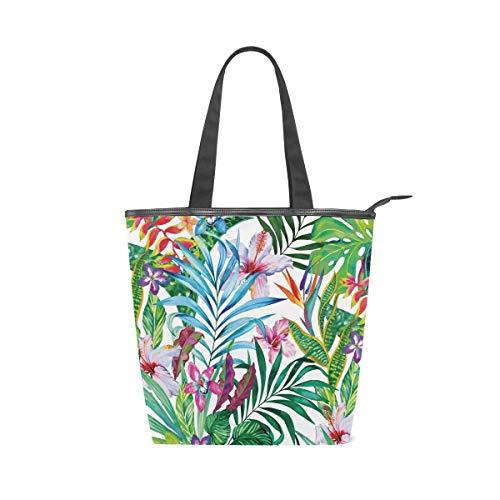 (Women Canvas Shoulder Bag, Hawaiian Art Bag Casual Handbag Shopping Bag Travel Beach Tote Bag for Women Ladies)