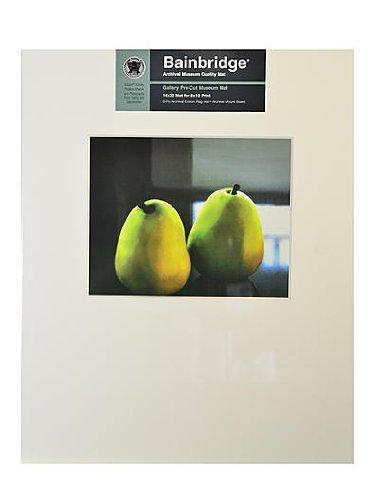"""Nielsen Bainbridge, GM10L, ARTCARE Gallery Pre-Cut Museum Mat, 16""""X20"""" with 8""""X10"""" Landscape Image Opening, White, Single Mat"""