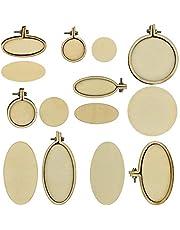 CODIRATO 7 stuks mini borduurlijstjes kruissteek ring frame hout kruissteek hoepel borduurringen ronde steek hoepel voor doe-het-zelf hangers, handwerk, sieraden maken
