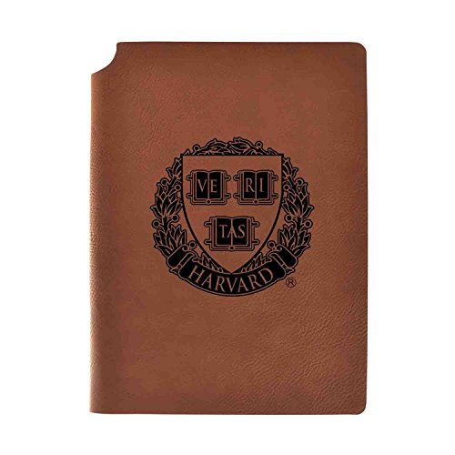 1/2 College Rule 80 Sheets - Harvard University Velour Journal with Pen Holder|Carbon Etched|Officially Licensed Collegiate Journal|