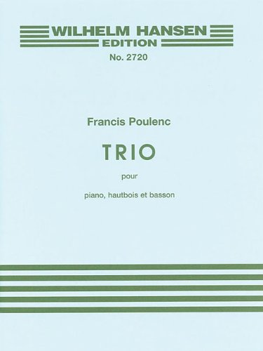 Trio for Piano, Oboe and Bassoon (Wilhelm Hanswn Edition Nr)