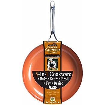 Amazon Com Non Stick Copper Frying Pan Ceramitech With