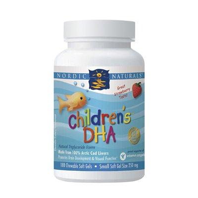 Nordic Naturals, DHA, Fraise pour enfants, 250 mg, à croquer Gels mous