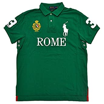 Polo Ralph Lauren Mens Big Pony City Custom Fit Mesh Polo Shirt