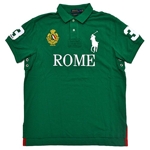 Polo Ralph Lauren Mens Big Pony City Custom Fit Mesh Polo Shirt (X-Large, English Green Rome) (Ralph Lauren Men Clothing compare prices)