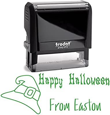 Gorro de bruja con sello negro de Happy Halloween de Stamper ...