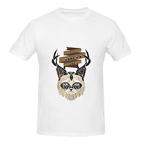 - Grumpy Cat Mens Crew Neck Shirts Art White