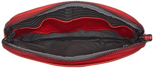 Piquadro Pochette Collezione Sirio Borsetta da polso, Pelle, Rosso, 22 cm