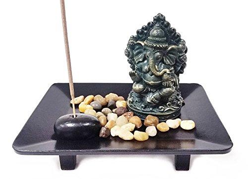 Bellaa 25112 Ganesh Statues Incense Stick Burner Holder Hindu Good Luck God