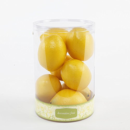 FT1377 Artificial 8 Scented Lemons in Cylinder Box-12 Boxes by Flora Bunda