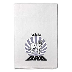 Style In Print Custom Decor Flour Kitchen Towels Dad Akbash Dog Pets Dogs Cleaning Supplies Dish Towels Design Only 10