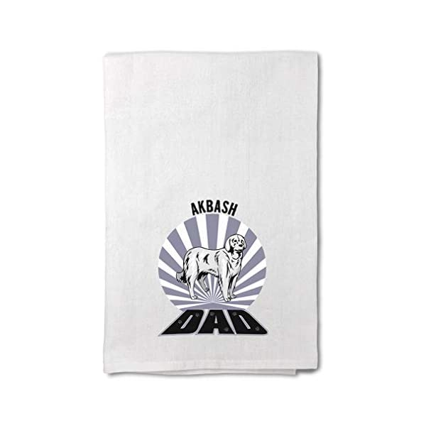 Style In Print Custom Decor Flour Kitchen Towels Dad Akbash Dog Pets Dogs Cleaning Supplies Dish Towels Design Only 1