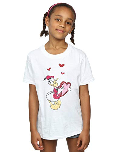 Duck Blanc Heart Disney T Love Fille shirt Donald 80xqpES