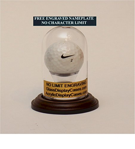 Golf Ball Hole in One Glass Display Round - Case Display Glass Ball Golf