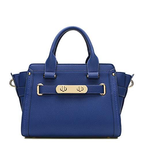Work Uejdb Casual Blue Maletín Tote Shoulder Bag Big Messenger Simple Womens Leather qwWpqZRa4