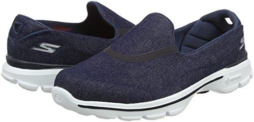 den Pour Marche Femmes Skechers Gowalk 3 Chaussures Bleu De FPqAB