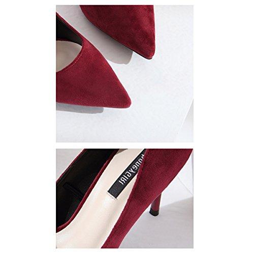 Winered Chaussures Bouche Chaussures Talons Shallow Été Fine Hauts Pointues Femmes Printemps Sexy Chaussures Simples Talon Chaussures Chaussures Court Élégant 9cm Ladies HAqBx