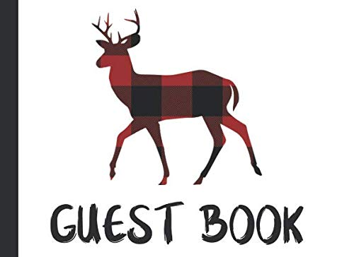 (Guest Book: Single Sided Plaid Deer Animal Guestbook For Weddings, Happy Birthday Parties, Bridal Showers, Vacation Homes & More)
