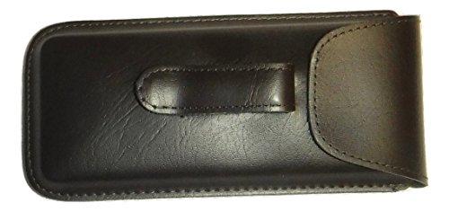 - Semi Hard Pocket Clip EyeGlass case Regular Size (Brown)