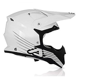 Casco Acerbis Fibra Carbon Moto Cross Impact Pure White XS blanco