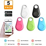 Zyan Key Finder, Wireless Anti-lost Tracker, Anything Finder for Wallet Bags Pet, Mini Locator with App Control for iPhone X 8 7 Plus Samsung Galaxy and more (5 pack)