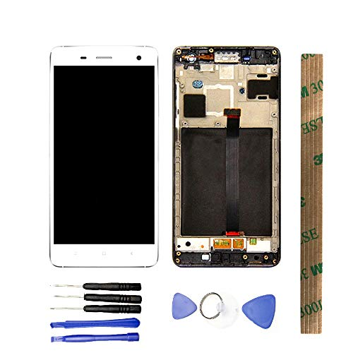 JayTong LCD Display & Replacement Touch Screen Digitizer Assembly with Free Tools for Xiao mi Mi 4 Mi4 M4 White with Frame