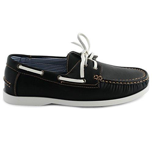 Shoes Click Náuticos de Piel Sintética Para Hombre Negro\r\n