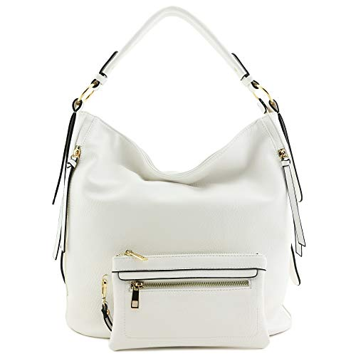 White Hobo Handbags - 7