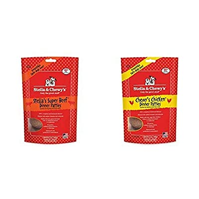 Stella & Chewy'S Freeze-Dried Raw Dinner Patties Dog Food Variety Pack Of 2 (Chicken And Beef), 5.5 Oz. Each