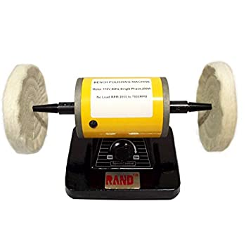 "RAND VARIABLE SPEED BENCH POLISHER / BUFFER- Polishing/Buffing Machine 5"" diameter jewelry"