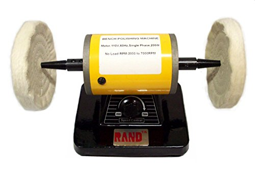 RAND VARIABLE SPEED BENCH POLISHER / BUFFER- Polishing/Buffing Machine 5'' diameter jewelry by Rand
