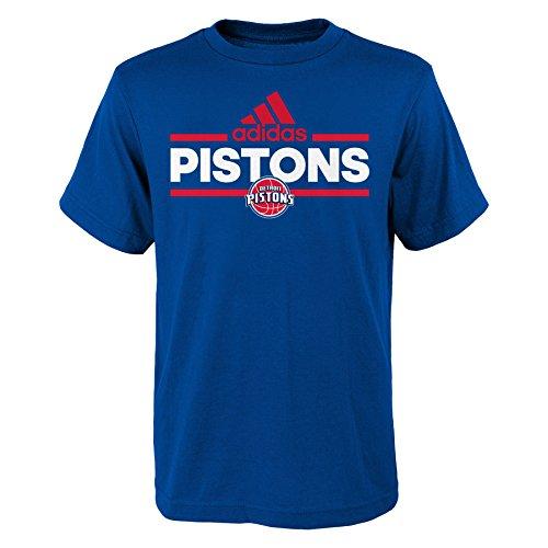 NBA Youth 8-20 Detroit Pistons Replen Mini Dassler Short Sleeve Tee-Blue-XL(18) ()