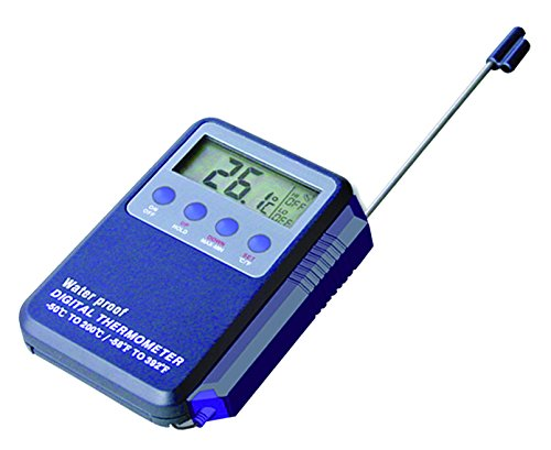 Matfer Bourgeat Watertight Electronic Digital Thermometer with Alarm by Matfer Bourgeat
