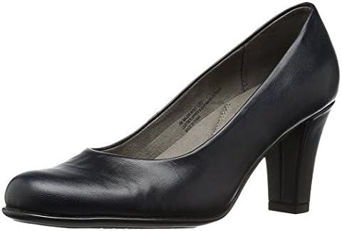 Aerosoles Women's Major Role Dress Pump, Dark Blue Leather, 8 M US - Blue Suede Pump Shoes