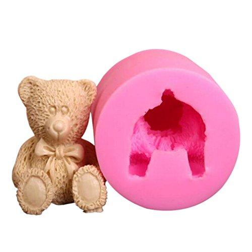 (Vipe Cake Molds Fondant Sugarcraft Cake Chocolate Soap DIY Mold Baking (3D bear))