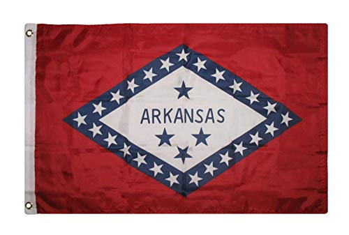 ALBATROS 2 ft x 3 ft Arkansas Flag Super Poly Premium Quality Flag 2x3 Banner Grommets for Home and Parades, Official Party, All Weather Indoors Outdoors