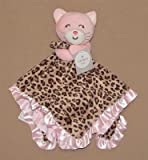 "Carters Baby ""Cuddle Blanket with Rattle"" Pink ""Kitty"" of Leopard Print & Pink"