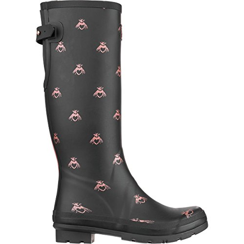 Joules Womens Welly Print Black Love Bees Rubber Boots 7 US by Joules